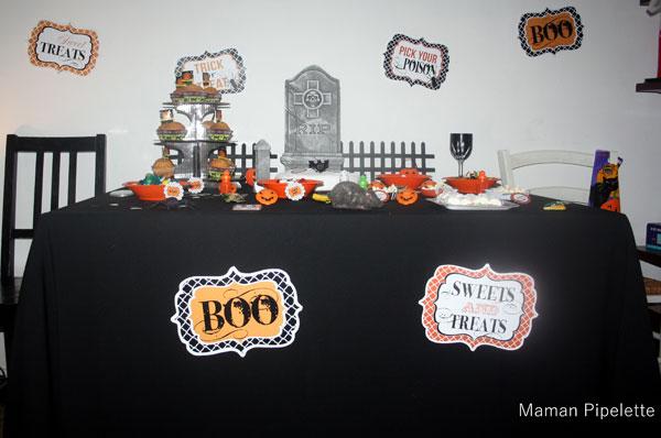 Avant c'était un salon, notre décoration Halloween