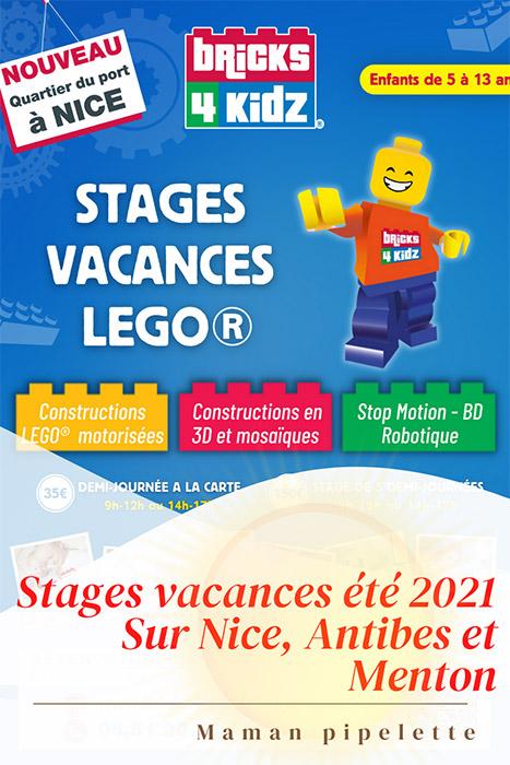 Stages d'été chez Bricks 4 Kidz Sur Nice, Antibes et Menton