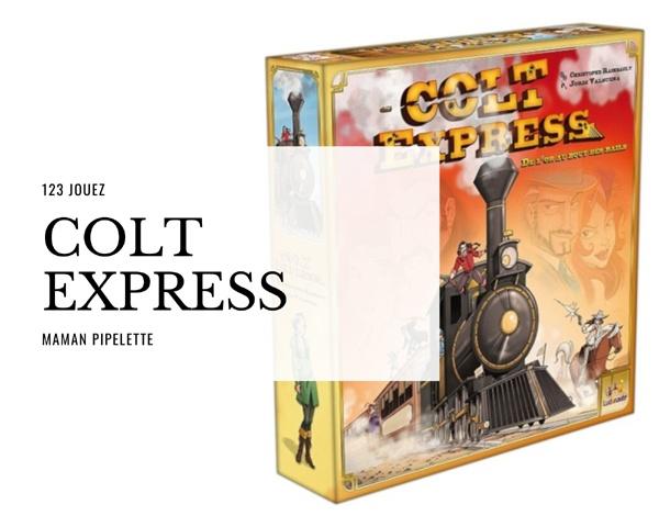 Colt express jeu d'ambiance avec un plateau 3D